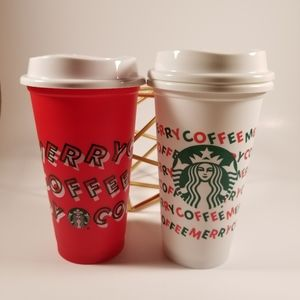 🆕️Starbucks, Holiday 2019 Reusable Hot Cups